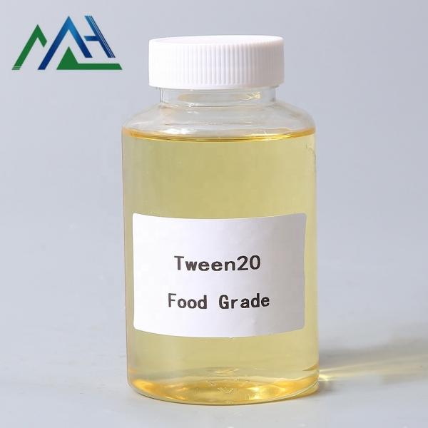 Surfactant Tween 20 food grade Polyoxyethylene sorbitan monolaurate CAS No.9005-64-5